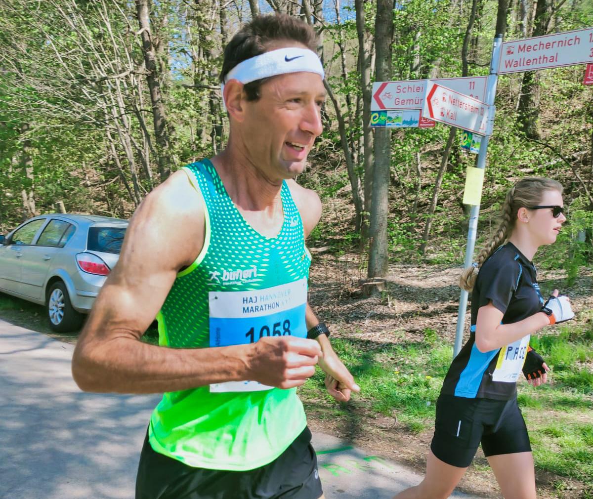 Norbert und Celine Schneider beim StayAtHome Marathon Hannover